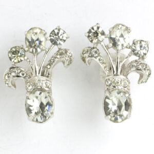 Diamante & sterling earrings by Eisenberg