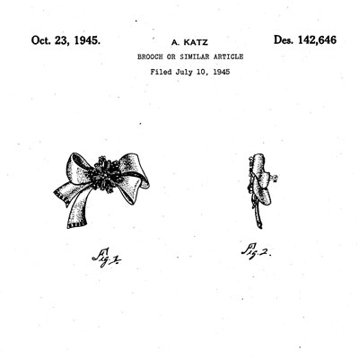 Adolph Katz design patent D142,646