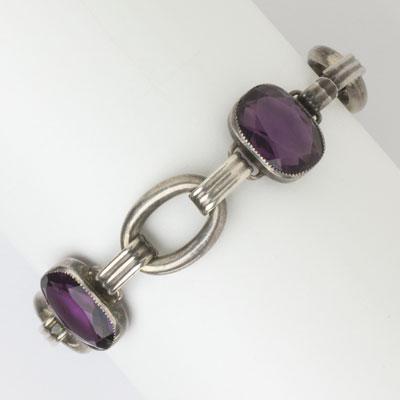 Sterling amethyst bracelet by Foster & Bro.