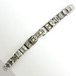 Otis sterling bracelet with diamanté