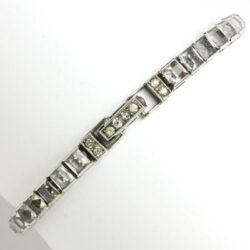 Otis sterling bracelet with diamanté