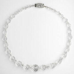 Front of 1920s crystal bead necklace
