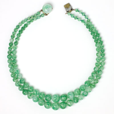 Front of 2-strand French necklace