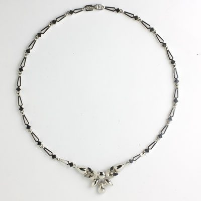 Back of Engel Brothers 1950s necklace