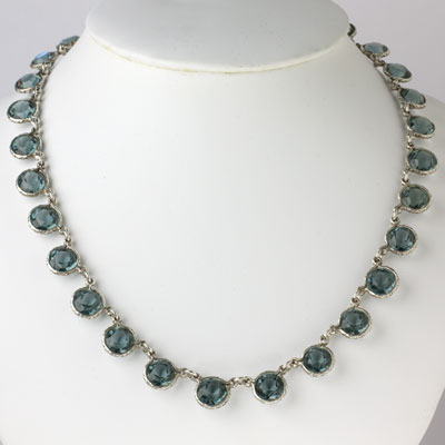 Vintage aquamarine necklace