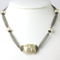 Pearl and silver chain necklace from the 1920s
