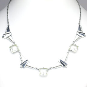 Kollmar & Jourdan necklace in chrome with chicklets