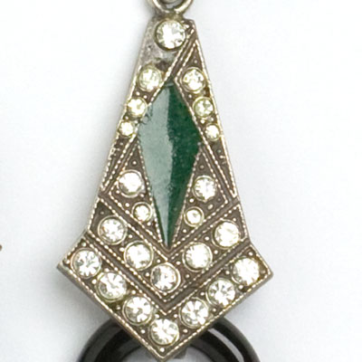Close-up view of emerald enamel