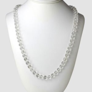 1920s long crystal bead necklace