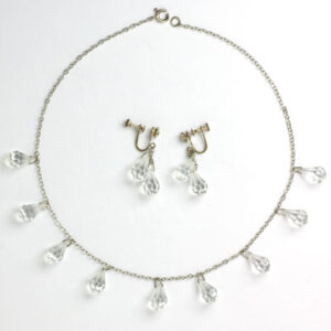 Crystal briolette necklace & earrings