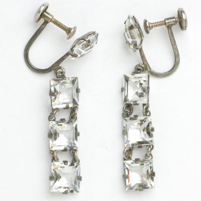 Front view of earrings