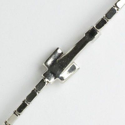 Close-up view of bracelet back