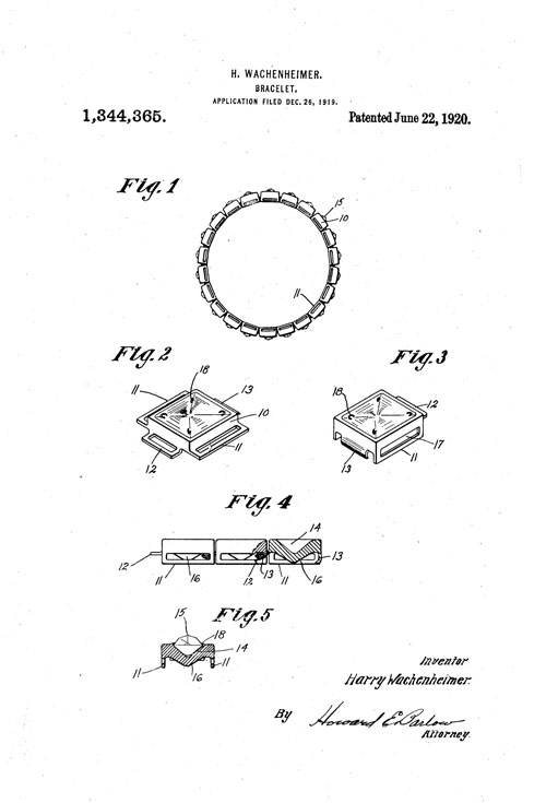 Second Diamonbar bracelet patent