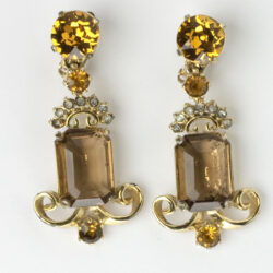 1950s ornate pendant earrings by Elsa Schiaparelli