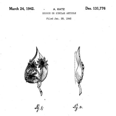 Design patent for brooch