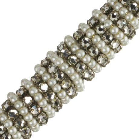 Close-up view of bar brooch