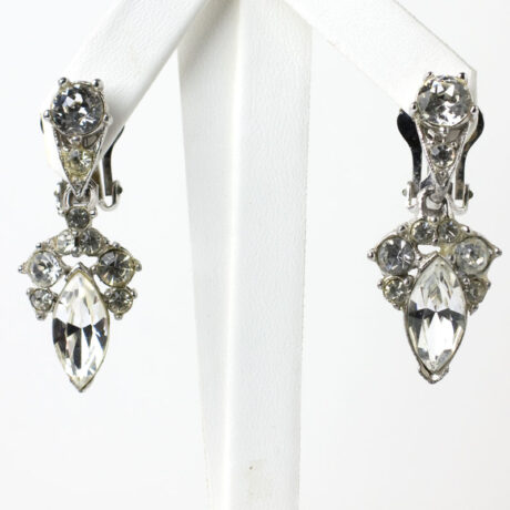 Bogoff earrings with diamante drops