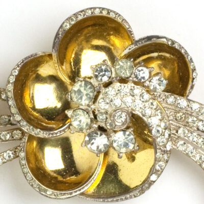 Close-up view of vermeil sterling flower petals