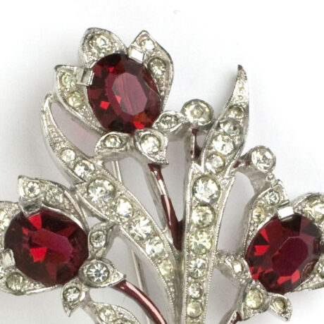 Close-up view of ruby flowers with diamante