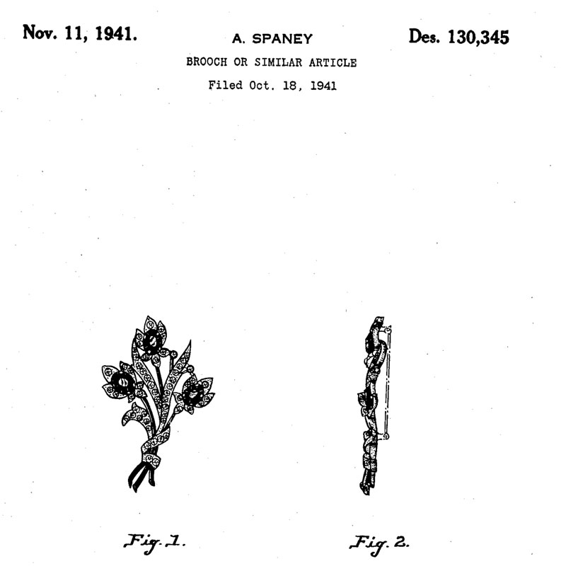 Alfred Spaney design patent