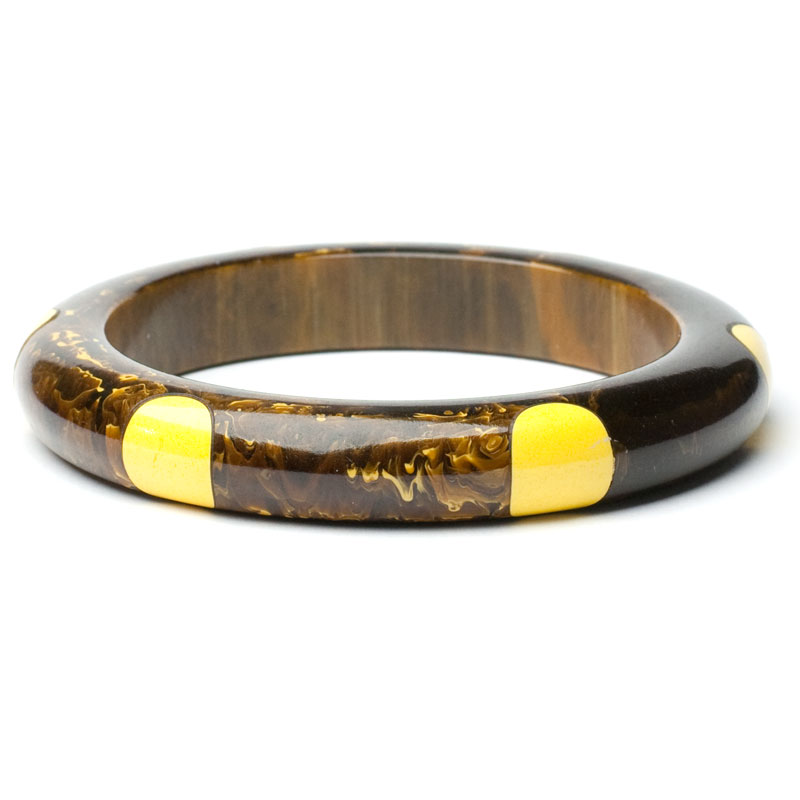 Brown marbled Bakelite bracelet