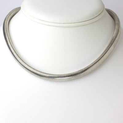 Sterling silver choker, 1940s, by Walter Lampl