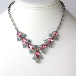 Pink tourmaline necklace with alexandrite, by Bogoff