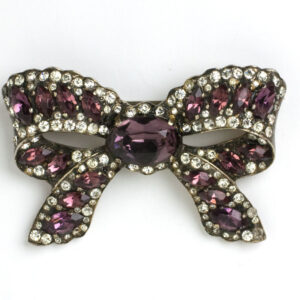 Eisenberg brooch with amethyst and diamanté