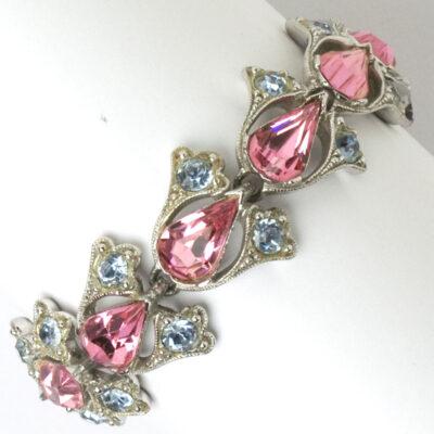 Pink tourmaline bracelet with alexandrite by Bogoff