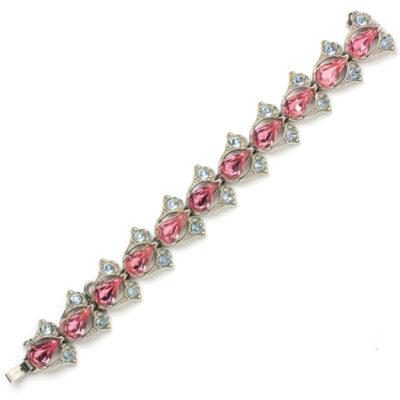 1950s Bogoff pink tourmaline & alexandrite bracelet