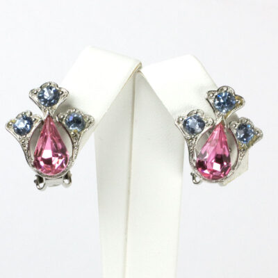 Pink tourmaline earrings with alexandrite