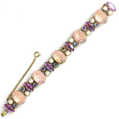 Front of 1950s Schiaparelli lava rock bracelet
