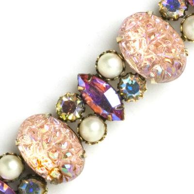 Close-up view of bracelet panels