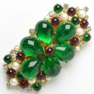 Hattie Carnegie double clip brooch