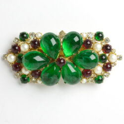 Hattie Carnegie brooch with colorful stones