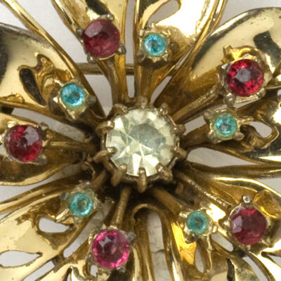 Close-up of Coro brooch