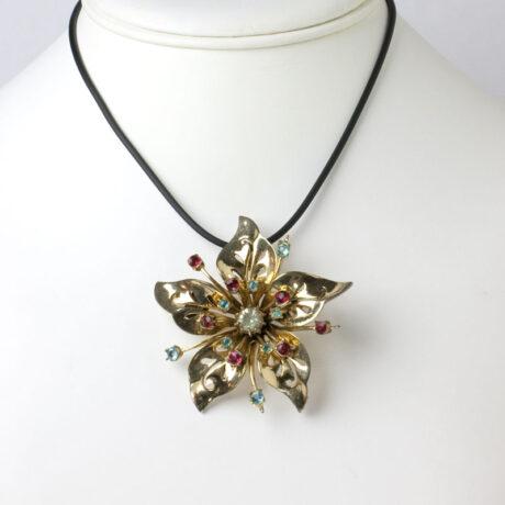 Brooch worn as pendant
