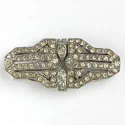 1930s French double clip brooch