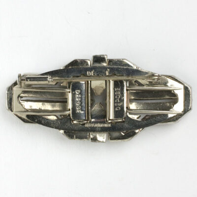 Back of double clip brooch