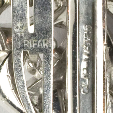 Trifari maker's mark and patent number