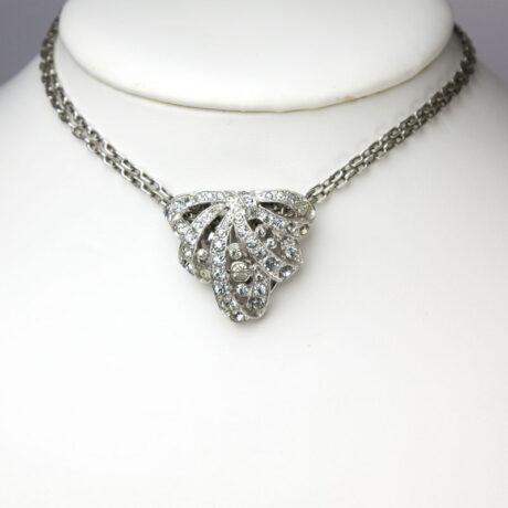 Single clip worn as a pendant