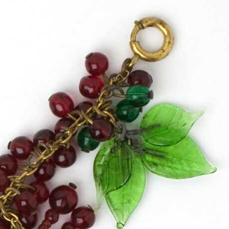 Close-up view of clasp
