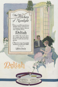 1920s ad for Deltah Pearls