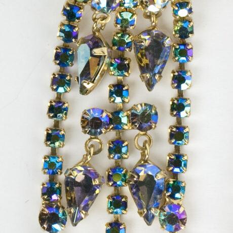 Close-up view of Hattie Carnegie earrings