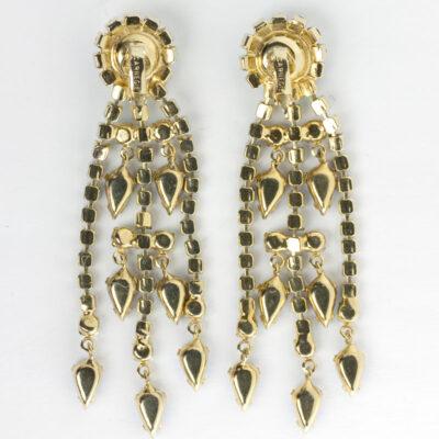 View of back of chandelier earings