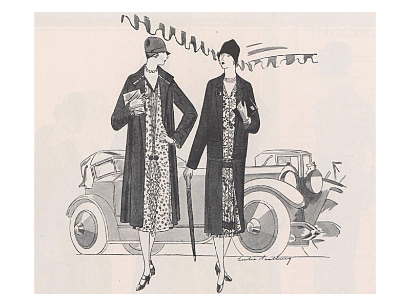 1920s flapper fashion in 1925 'Vogue' ad