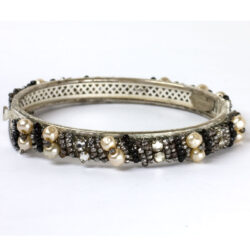 Front of Miriam Haskell bangle