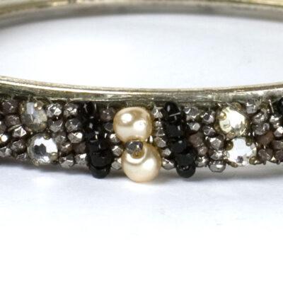 Close-up view of diamante & beads