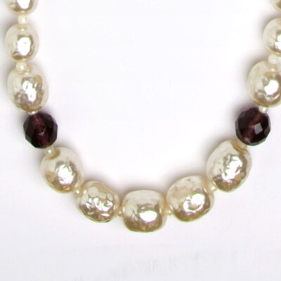 Close-up view of pearls & beads