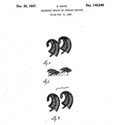 Design patent for this double-clip brooch